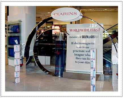 Clarins - Experiential exhibition stand - Selfridges