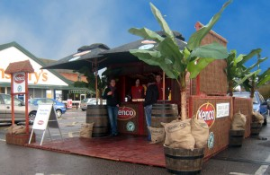 Experiential Sampling Stand for Kenco Coffee