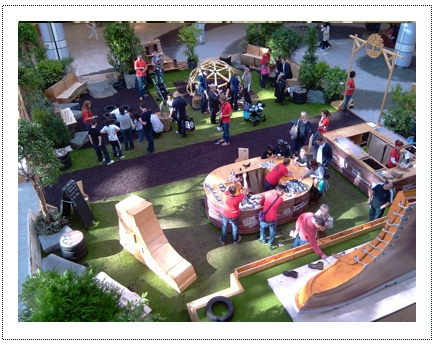 Timberland Experiential Shopping Centre Activity - stand viewed from above