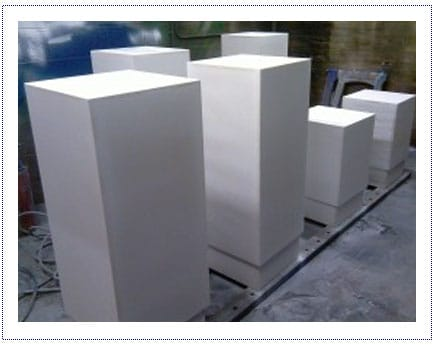 WIP - Plinths in Spray room