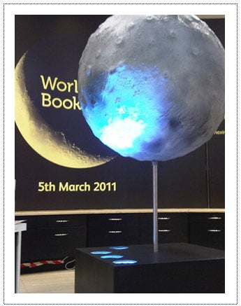Giant Prop - Rotating Moon Instore Display