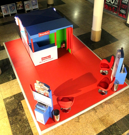 Freeview experiential shopping centre stand