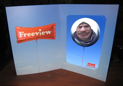 freeview photo marketing frame