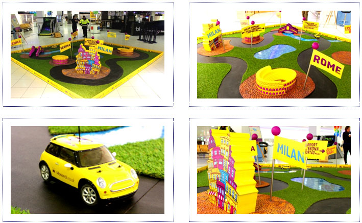 Monarch - Experiential Airport Activity - Touring Stand