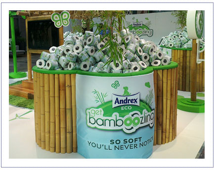 Experiential Exhibition Stand - Andrex Bamboozled Shopping Centre Tour - sampling Bin
