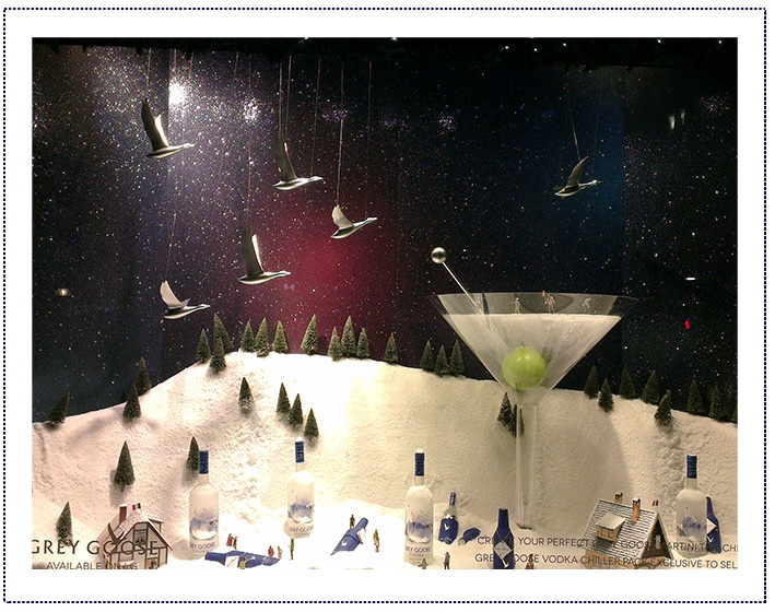Grey Goose - Selfridges Window - whole shot