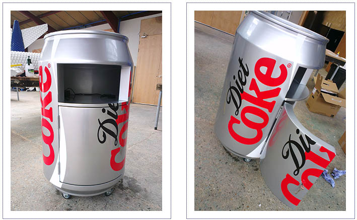 Diet Coke Photo mechanic - giant can