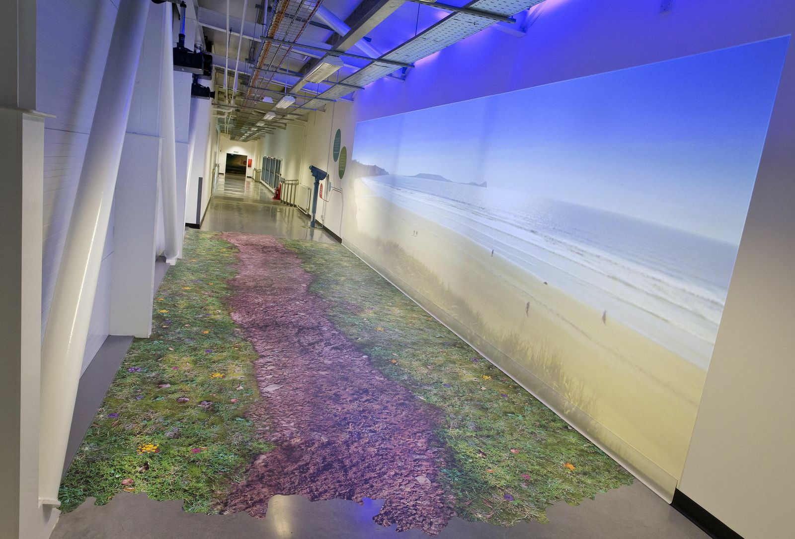 Cardiff Airport - Permanent Display - Coastal Path Projection Wall