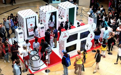 """Our stand for Diet Coke with """"socially connected"""" photo booths"""