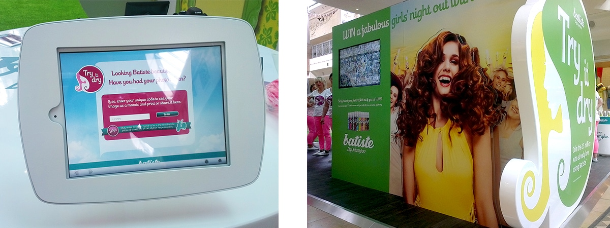 Experiential Sampling Stand - Batiste - uk shopping centre tour