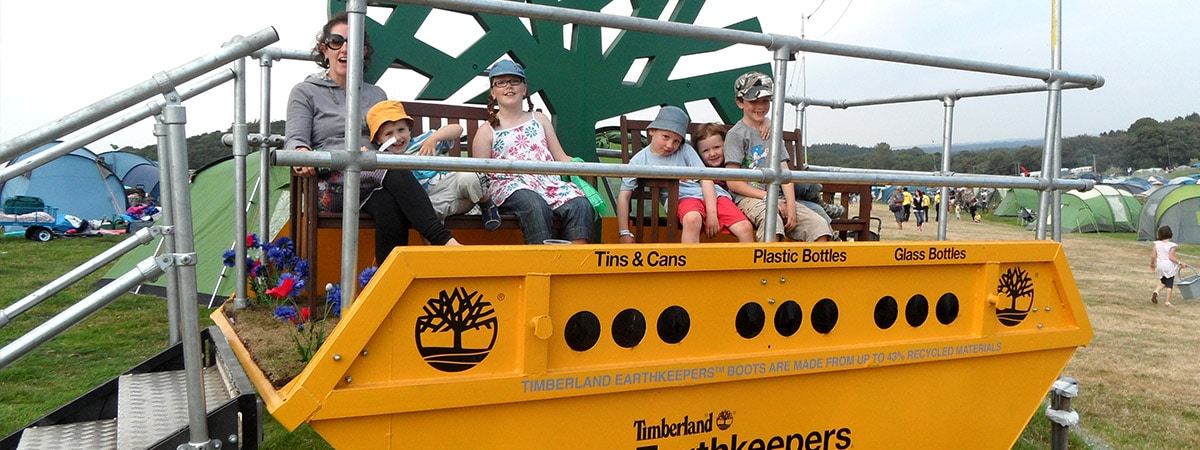 Experiential Shipping Container - Timberland Music Festival Promotional Stand - Viewing Platform