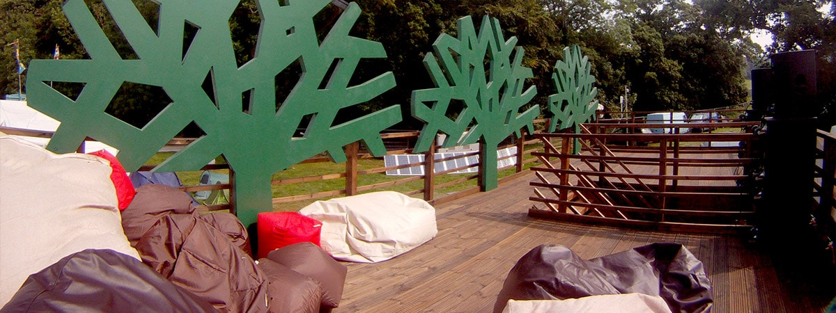 Experiential Shipping Container - Timberland Music Festival Promotional Stand - mezzanine