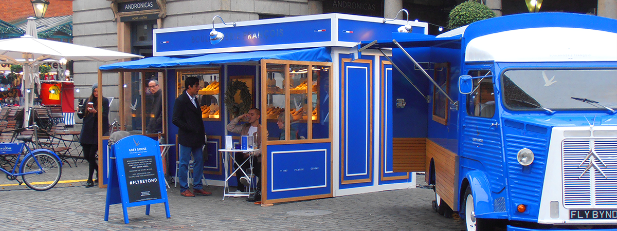 Grey Goose Boulangerie experiential exhibition stand