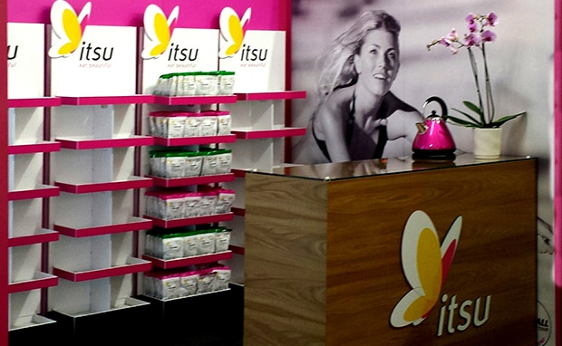 Itsu - Shell scheme exhibtion stand