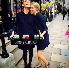 Jimmy Choo branded sampling trays