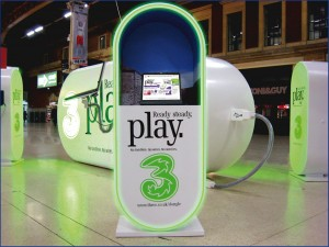 promotional exhibition stand for 3 mobile