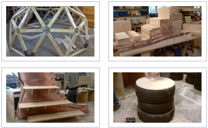 WIP - Timberland Experiential Shopping Centre Stand Elements