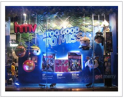HMV Baubles - Window Display