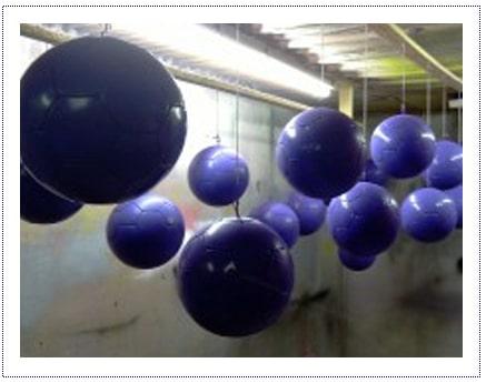 WIP - Spraying Footballs