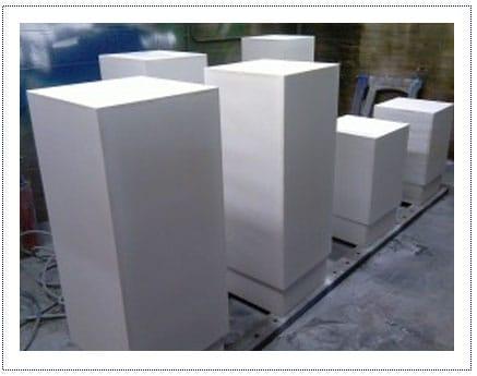 WIP - Plinths in Spray room