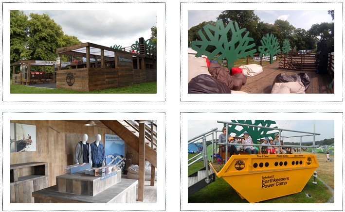 Timberland - Festival Container stand - overview