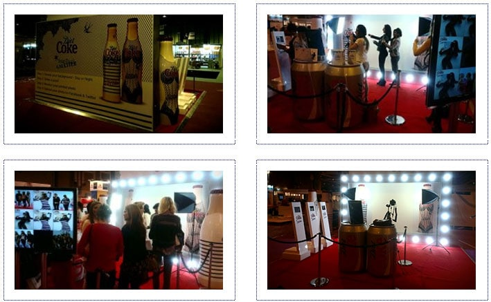 Diet Coke Experiential Photo Mechanic Stand at Clothes Show Live