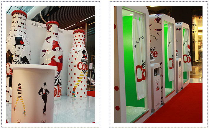 Experiential Marketing - Diet Coke Mall Tour - photo booths