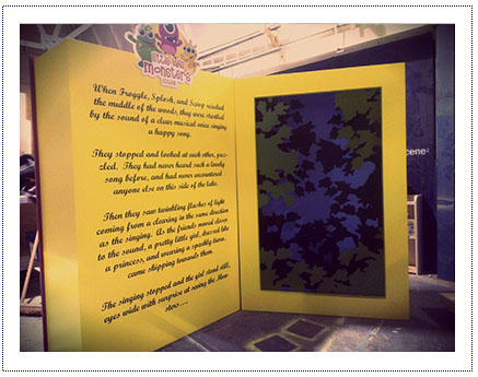 Giant Storytelling Book for Shopping Centre Activity