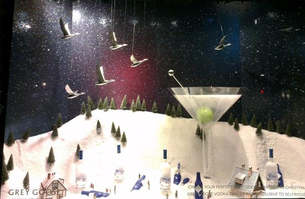 Christmas - Grey Goose Selfridges window