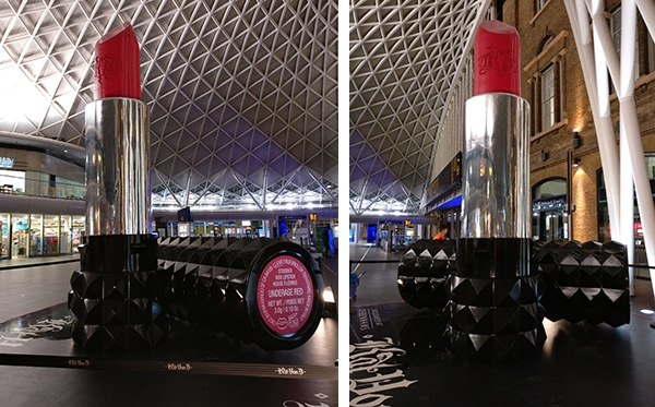 Our bespoke Giant Lipstick event prop stood 5 metres high