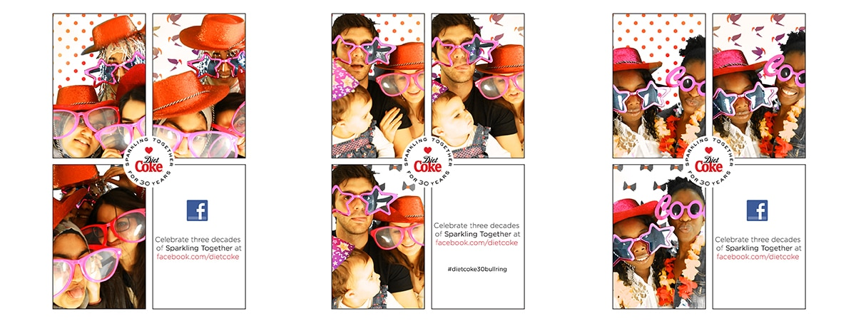 Experiential Sampling Stand - Photobooth setup for Diet Coke - overlay