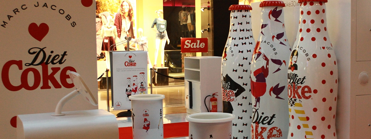 Experiential Sampling Stand - Photobooth setup for Diet Coke - reverse angle