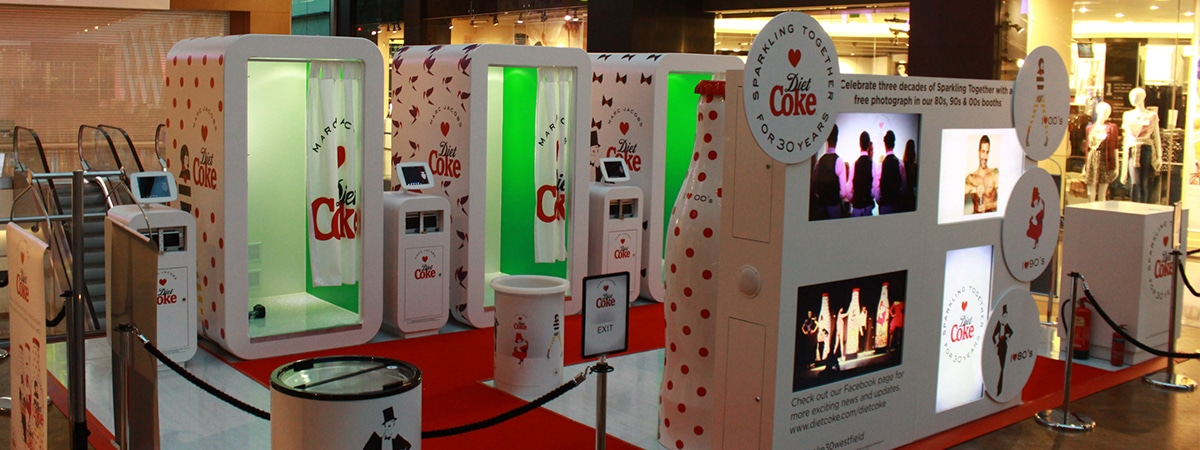Experiential Sampling Stand - Photobooth setup for Diet Coke