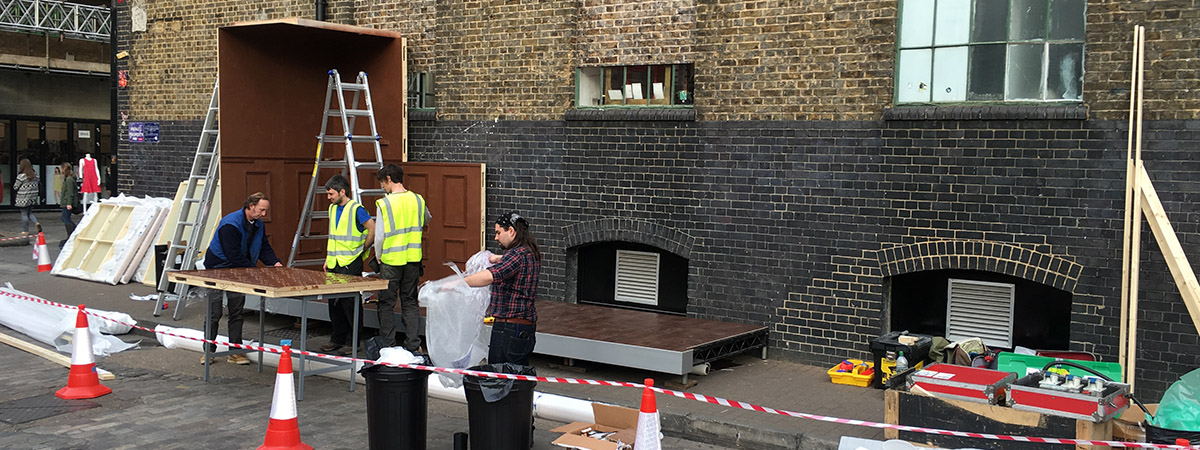 Experiential event - Carlsberg Chocolate Bar - site build