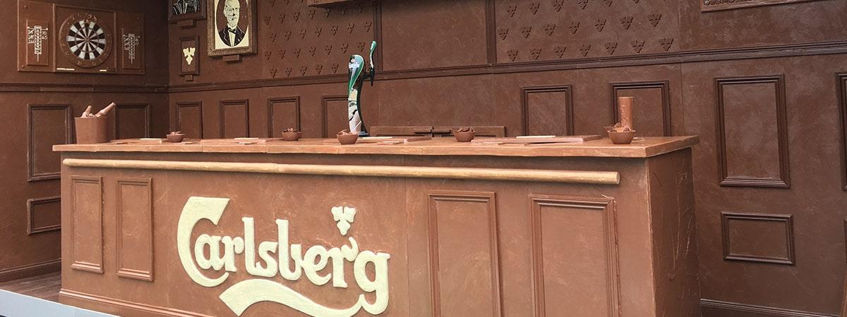 Experiential event - Carlsberg Chocolate Bar