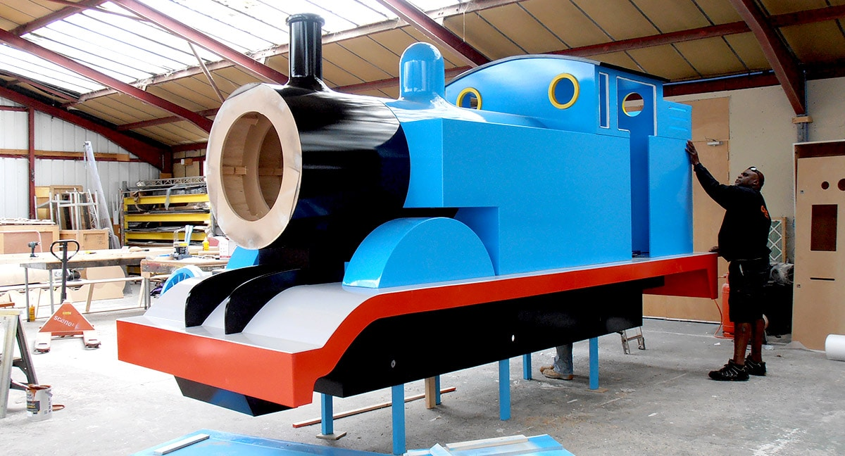 Giant Prop - Thomas The Tank Engine - spray painted bodywork