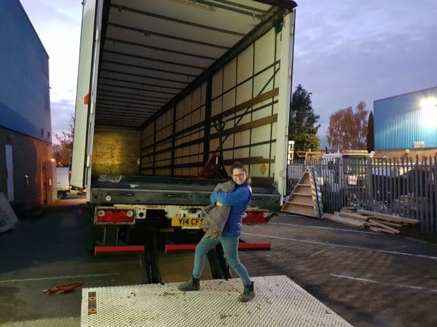 Laura loading truck for you tube experiential event