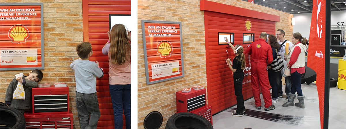 Shell experiential exhibition stand at top gear live