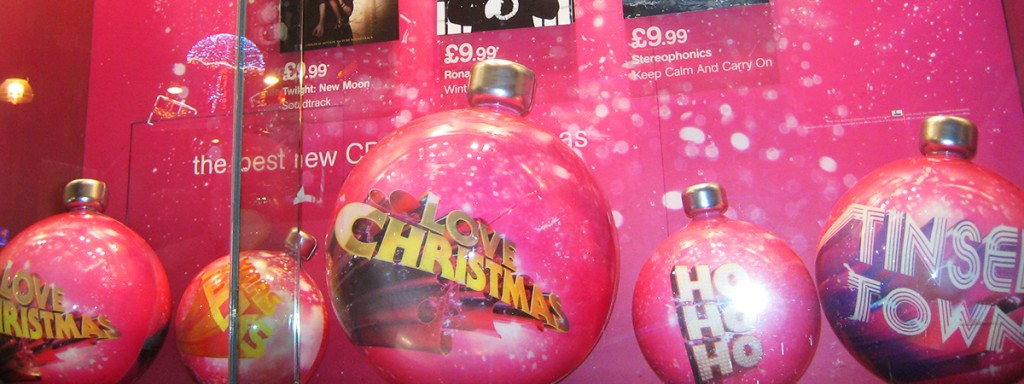 HMV - Christmas Display - Giant Baubles