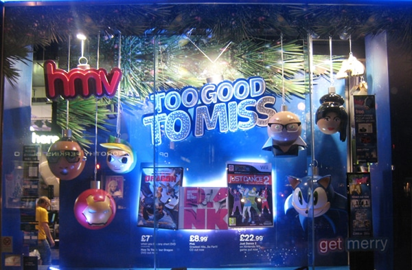 Christmas - HMV windows