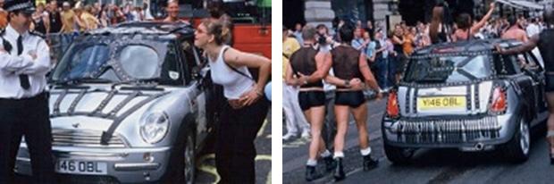 mini at London Pride