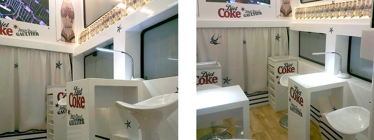 vehicle refit - Diet Coke Bus